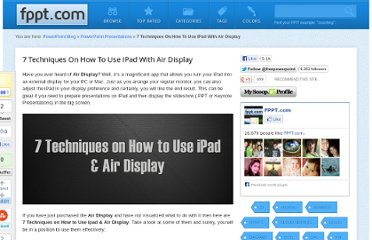 http://www.free-power-point-templates.com/articles/7-techniques-on-how-to-use-ipad-with-air-display/