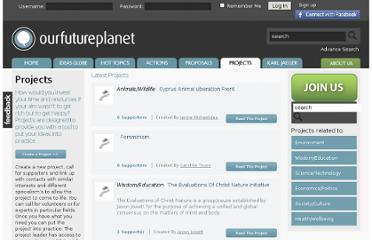 http://www.ourfutureplanet.org/projects