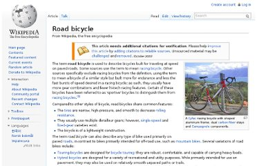 http://en.wikipedia.org/wiki/Road_bicycle