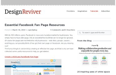 http://designreviver.com/tutorials/essential-facebook-fan-page-resources/