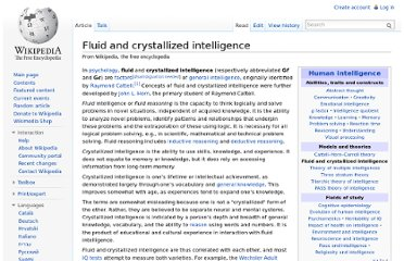 http://en.wikipedia.org/wiki/Fluid_and_crystallized_intelligence