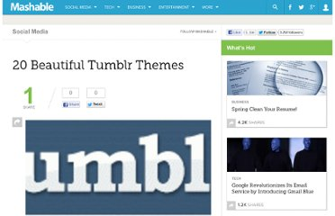 http://mashable.com/2009/01/26/tumblr-themes/