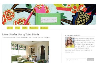 http://littlegreennotebook.blogspot.com/2009/02/make-shades-out-of-mini-blinds.html