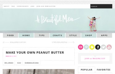 http://www.abeautifulmess.com/2012/03/make-your-own-peanut-butter.html