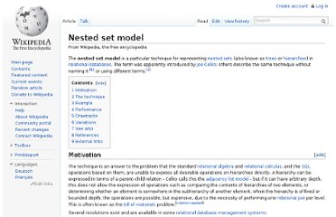 http://en.wikipedia.org/wiki/Nested_set_model