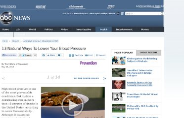 http://abcnews.go.com/Health/Wellness/13-natural-ways-lower-blood-pressure/story?id=19251901