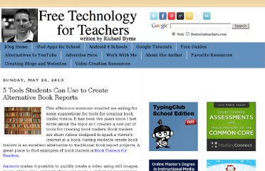 http://www.freetech4teachers.com/2013/05/5-tools-students-can-use-to-create.html#.UaKzDdGI70M