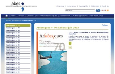 http://www.abes.fr/Arabesques/Arabesques-n-70