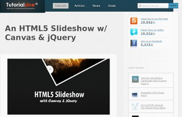 http://tutorialzine.com/2010/09/html5-canvas-slideshow-jquery/