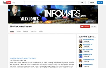 http://www.youtube.com/user/TheAlexJonesChannel