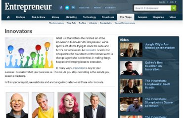 http://www.entrepreneur.com/innovators/index.html