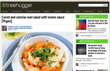http://www.treehugger.com/easy-vegetarian-recipes/carrot-celeriac-root-salad-lemon-sauce-vegan.html