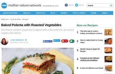 http://www.treehugger.com/easy-vegetarian-recipes/baked-polenta-roasted-vegetables.html