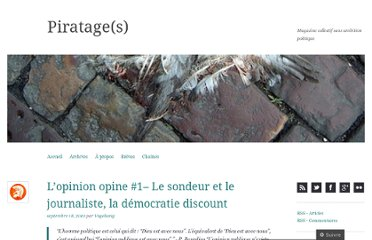 http://piratages.wordpress.com/2010/09/18/lopinion-opine-1%e2%80%93-le-sondeur-et-le-journaliste-la-democratie-discount/