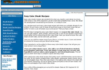 http://www.steaks-guide.com/article-pages/recipes/easy_cube_steak_recipes.php