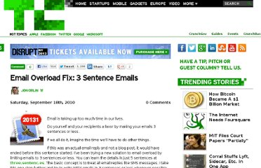 http://techcrunch.com/2010/09/18/3-sentence-emails/