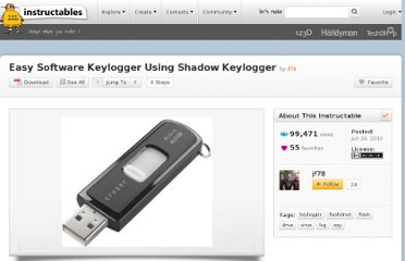 http://www.instructables.com/id/Makeshift-Hardware-Keylogger-Using-Shadow-Keylogge/