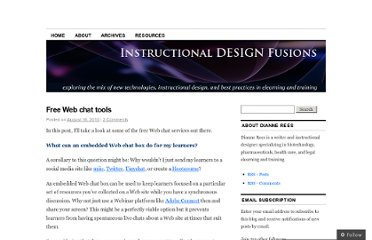 http://instructionaldesignfusions.wordpress.com/2010/08/16/free-web-chat-tools/