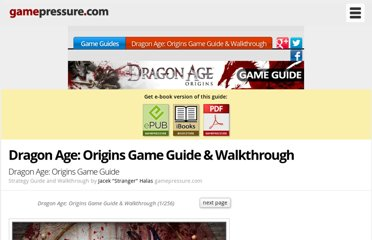 http://guides.gamepressure.com/dragonageorigins/