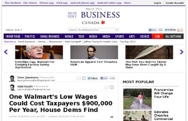 http://www.huffingtonpost.com/2013/05/31/walmart-taxpayers-house-report_n_3365814.html