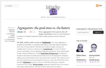 http://www.mondaynote.com/2010/09/19/aggregators-the-good-ones-vs-the-looters/