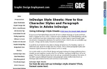 http://www.graphic-design-employment.com/indesign-style-sheets.html