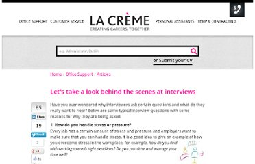 http://www.lacreme.ie/article/lets-take-look-behind-scenes-interviews