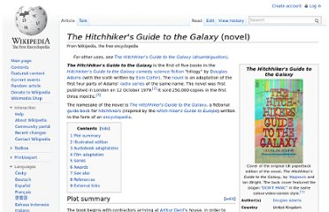 http://en.wikipedia.org/wiki/The_Hitchhiker%27s_Guide_to_the_Galaxy_(novel)