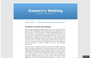 http://gowers.wordpress.com/2009/03/10/problem-solved-probably/