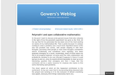http://gowers.wordpress.com/2009/03/10/polymath1-and-open-collaborative-mathematics/