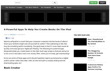 http://www.edudemic.com/2013/06/8-powerful-apps-to-help-you-create-books-on-the-ipad/