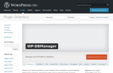 http://wordpress.org/extend/plugins/wp-dbmanager/