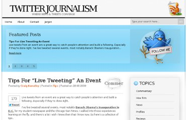 http://www.twitterjournalism.com/2009/06/28/tips-for-live-tweeting-an-event/