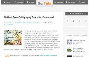 http://www.ourtuts.com/20-best-free-calligraphy-fonts-for-download/