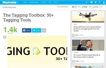 http://mashable.com/2007/07/13/tagging-tools/