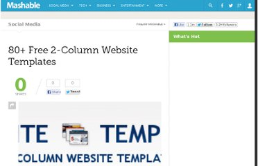 http://mashable.com/2007/09/29/2-column-website-templates/