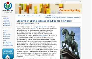 http://blog.wikimedia.org/2013/06/05/database-public-art-sweden/