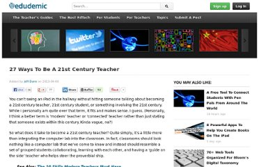 http://www.edudemic.com/2013/04/27-ways-to-be-a-21st-century-teacher/