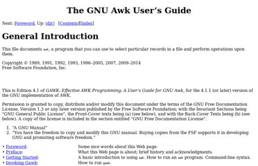 http://www.gnu.org/software/gawk/manual/gawk.html