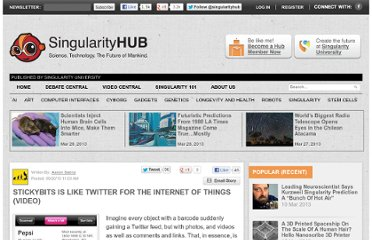 http://singularityhub.com/2010/09/20/stickybits-is-like-twitter-for-the-internet-of-things-video/