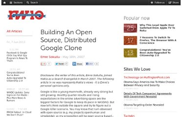 http://readwrite.com/2007/05/10/how_to_build_an_open_source_google