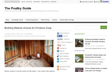 http://thepoultryguide.com/bedding-material-choices-for-chickens/