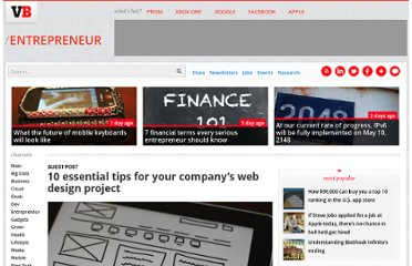 http://venturebeat.com/2013/06/07/10-essential-tips-for-your-companys-web-design-project/#jIryV55WlG2w4w03.99