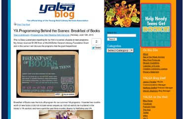 http://yalsa.ala.org/blog/2013/06/10/ya-programming-behind-the-scenes-breakfast-of-books/