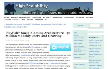 http://highscalability.com/blog/2010/9/21/playfishs-social-gaming-architecture-50-million-monthly-user.html