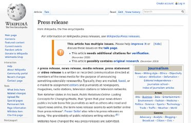 https://en.wikipedia.org/wiki/Press_release
