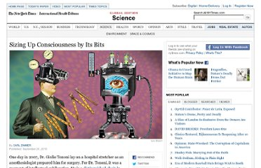 http://www.nytimes.com/2010/09/21/science/21consciousness.html?pagewanted=1&_r=1