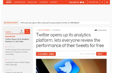 http://thenextweb.com/twitter/2013/06/13/twitter-opens-up-its-analytics-platform-lets-everyone-review-the-performance-of-their-tweets-for-free/