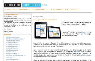 http://www.formateurconsultant.com/article-les-usages-professionnels-de-l-ipad-51077278.html