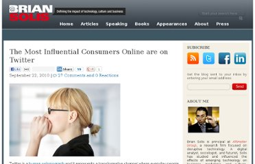 http://www.briansolis.com/2010/09/twitter-is-home-to-the-most-influential-consumers-online-are-on-twitter/